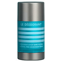 Buy Jean Paul Gaultier Le Male Alcohol-Free Deodorant Stick, 75g Online at johnlewis.com