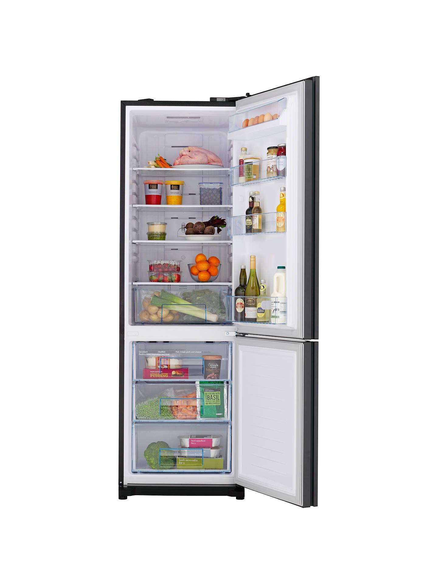 john lewis partners jlfsbk2001 fridge freezer black. Black Bedroom Furniture Sets. Home Design Ideas