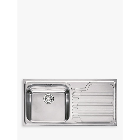 Buy Franke Galassia GAX 611 Kitchen Sink with Left Hand Bowl, Stainless Steel Online at johnlewis.com