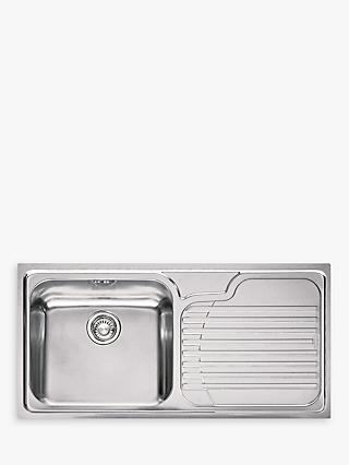 Franke Galassia GAX 611 Kitchen Sink with Left Hand Bowl, Stainless Steel