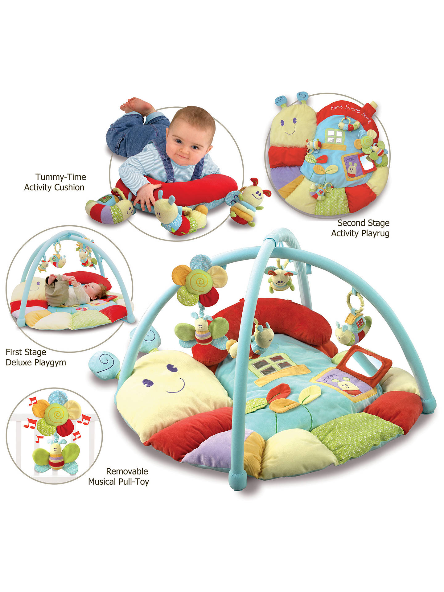 Buy Little Bird Told Me Softly Snail Multi-Activity Baby Playmat and Gym Online at johnlewis.com