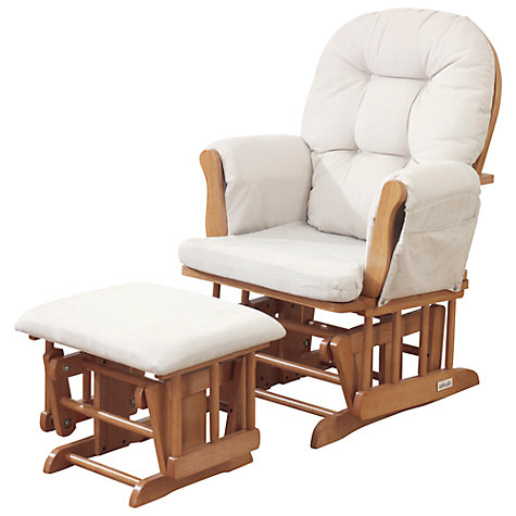 Buy kub haywood glider nursing chair and footstool for Nursing rocking chair design