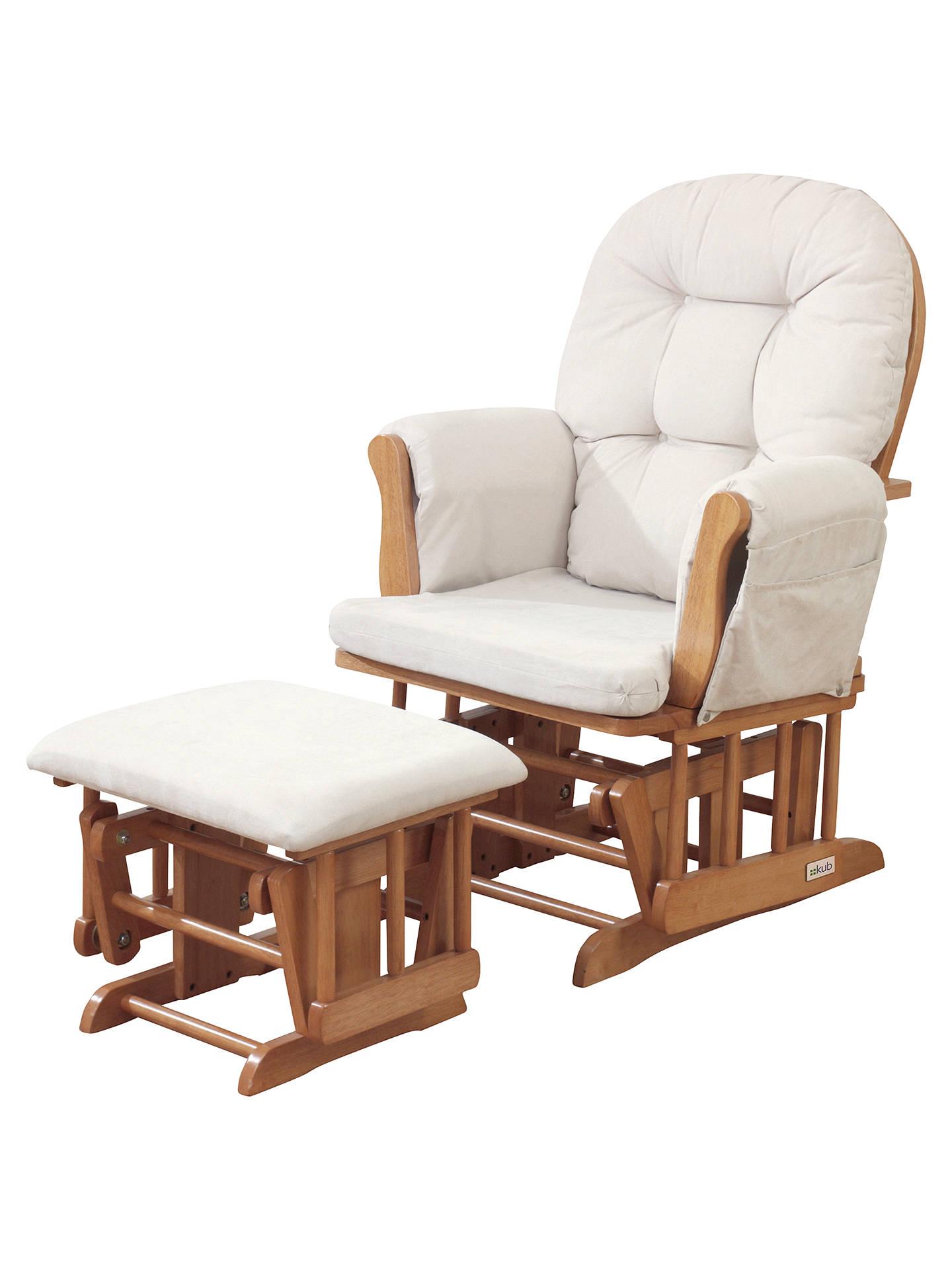 Swell Kub Haywood Glider Nursing Chair And Footstool Natural Evergreenethics Interior Chair Design Evergreenethicsorg