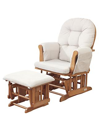 Kub Haywood Glider Nursing Chair and Footstool, Natural