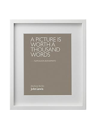 John Lewis Partners Box Frame Mount Photo Frame Range At John