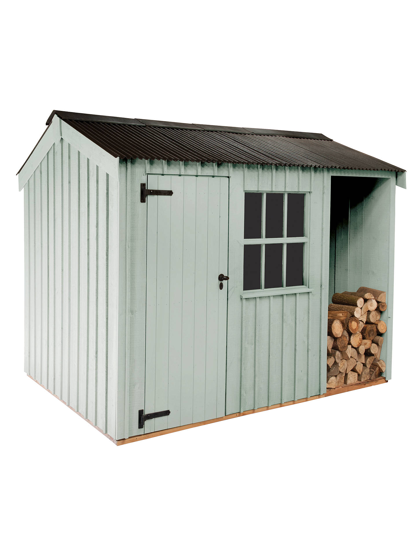 Buy National Trust by Crane Garden Buildings Blickling Garden Shed, 2.4 x 3.6m, FSC-Certified (Scandinavian Redwood), Disraeli Green Online at johnlewis.com