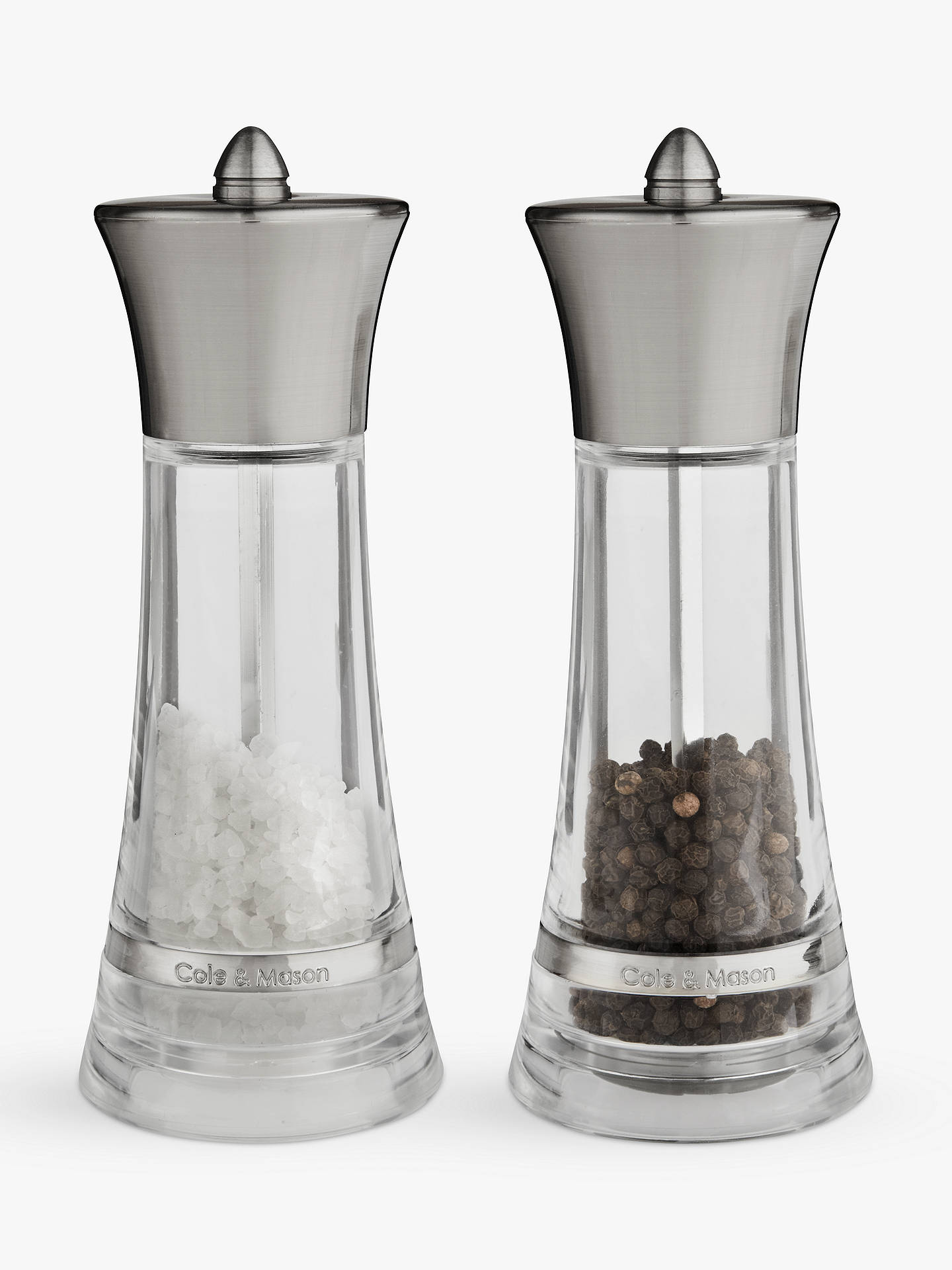 cole mason monaco salt and pepper mill gift set at john lewis partners. Black Bedroom Furniture Sets. Home Design Ideas