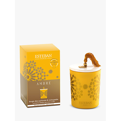 Buy Esteban Ambre Scented Candle In a Box, 170g Online at johnlewis.com