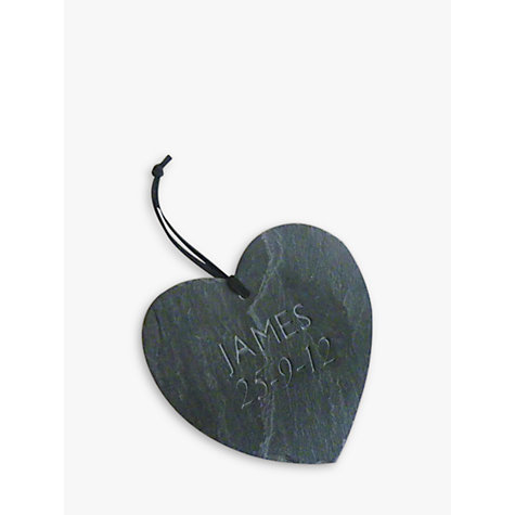 Buy Personalised Heart Slate Online at johnlewis.com