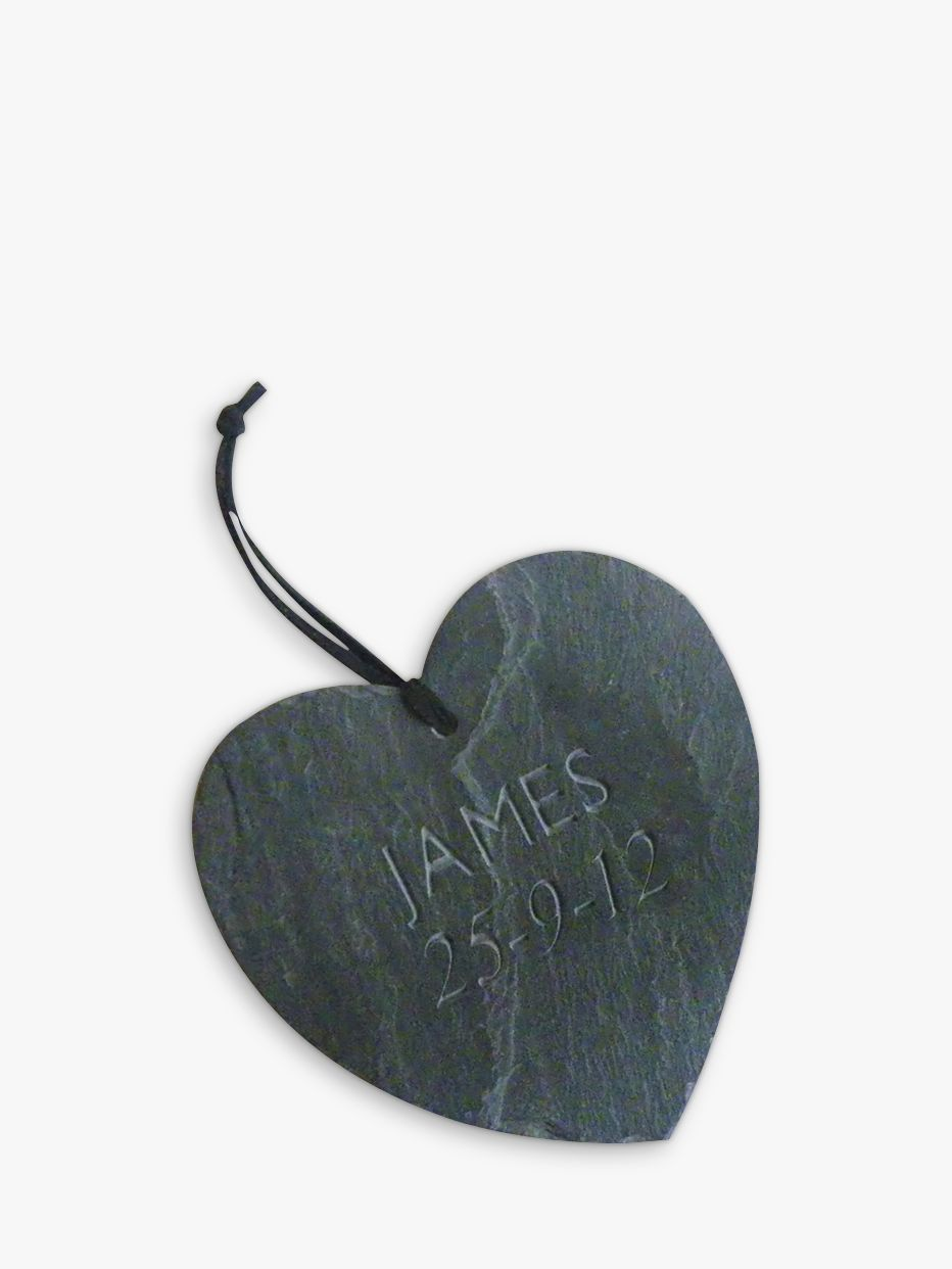 Letterfest Personalised Heart Slate