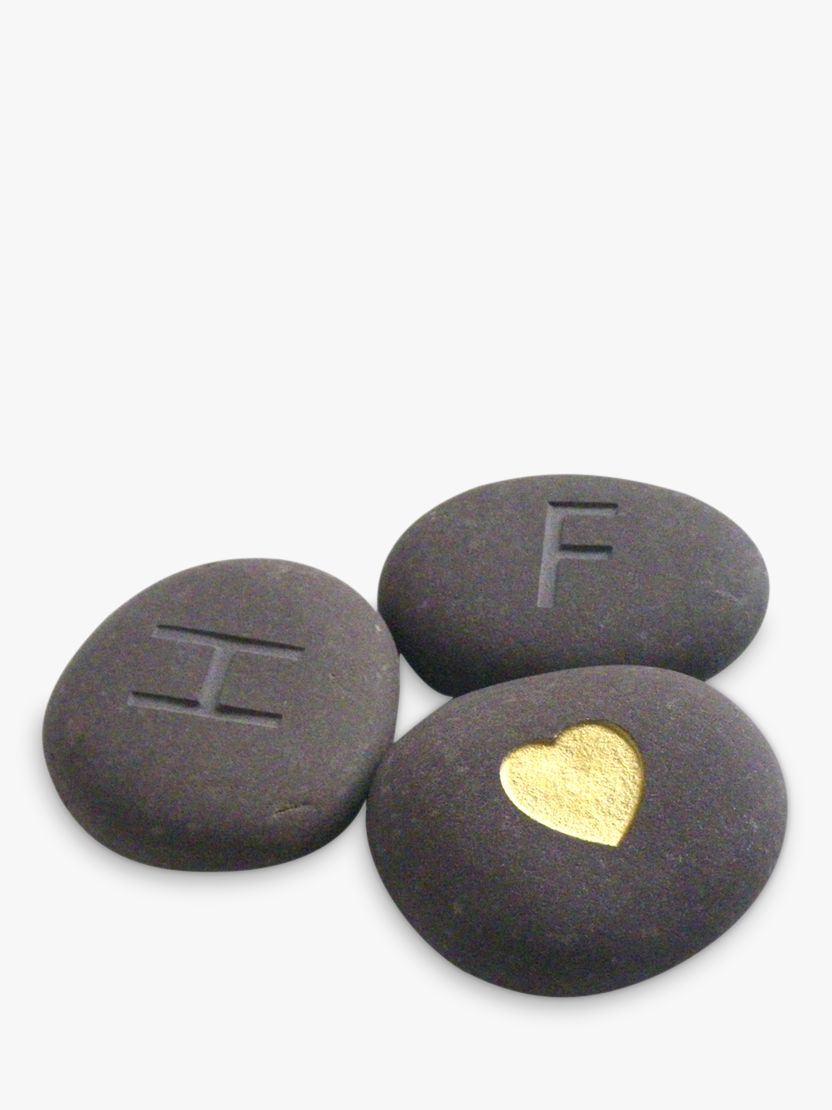 Letterfest Personalised 'I Love You' Stones, Set of 3