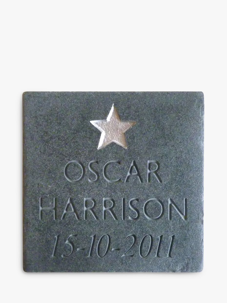 Letterfest Personalised New Baby Slate