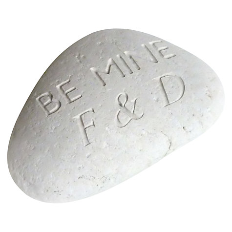 Buy Personalised 'Be Mine' Sentiment Stone Online at johnlewis.com