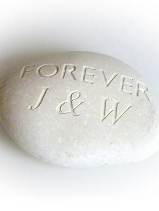 Buy Personalised 'Forever' Sentiment Stone Online at johnlewis.com