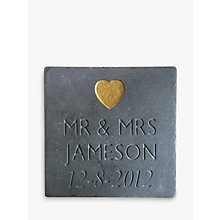 Buy Personalised Wedding Slate Online at johnlewis.com