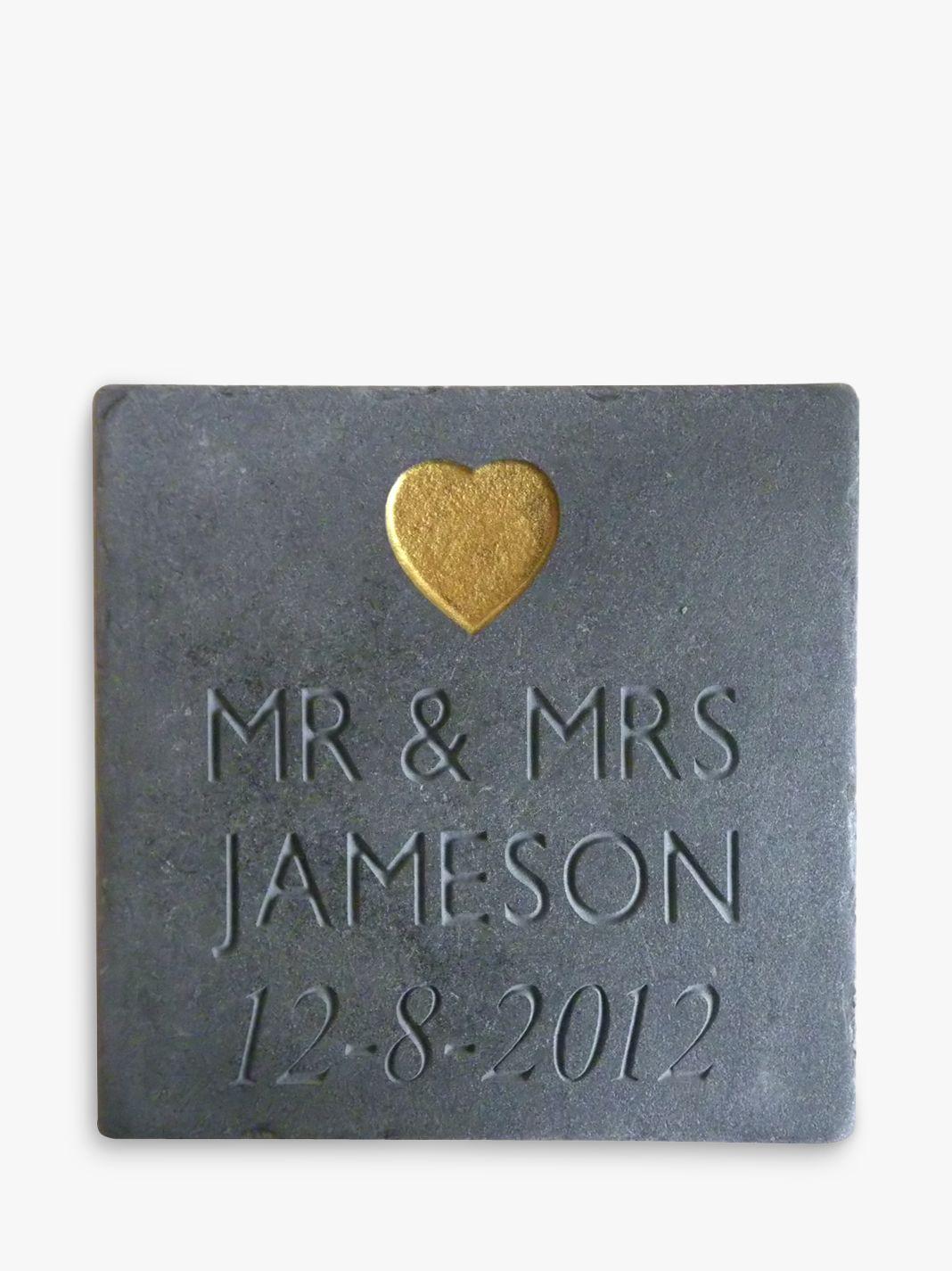 Letterfest Personalised Wedding Slate
