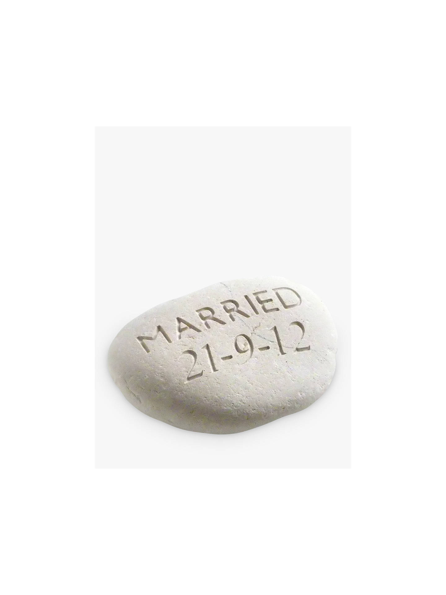 BuyPersonalised 'Married' Wedding Stone Online at johnlewis.com