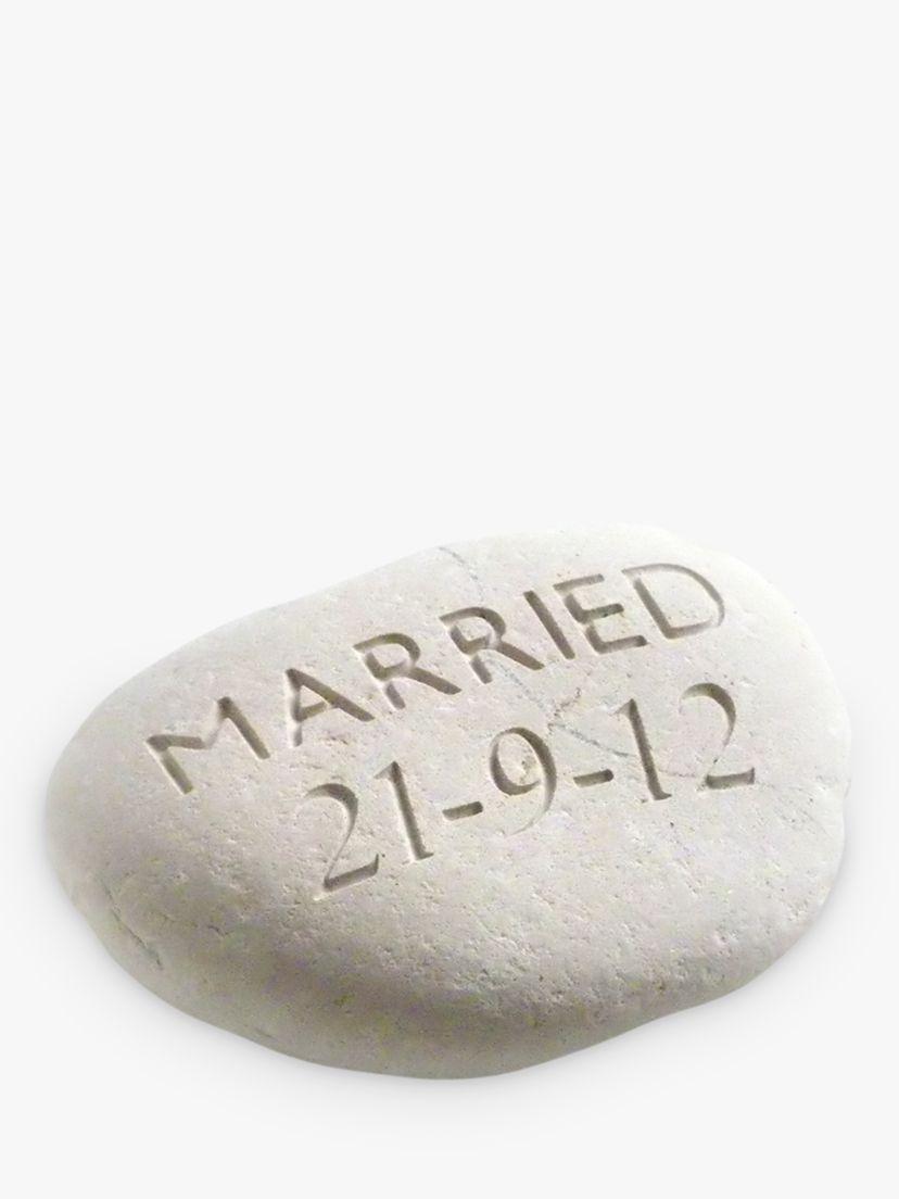 Letterfest Personalised 'Married' Wedding Stone