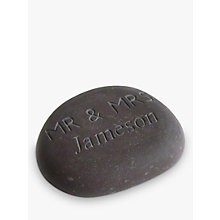 Buy Personalised 'Mr & Mrs' Wedding Stone Online at johnlewis.com