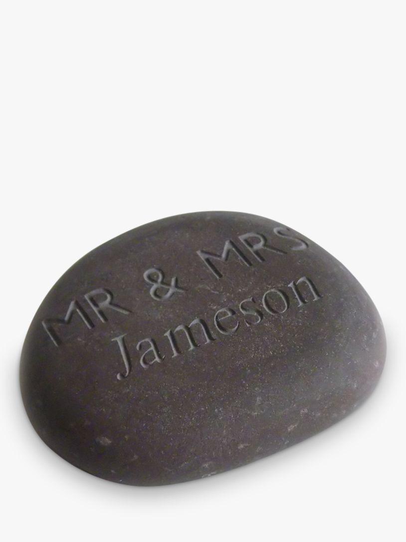 Letterfest Personalised 'Mr & Mrs' Wedding Stone