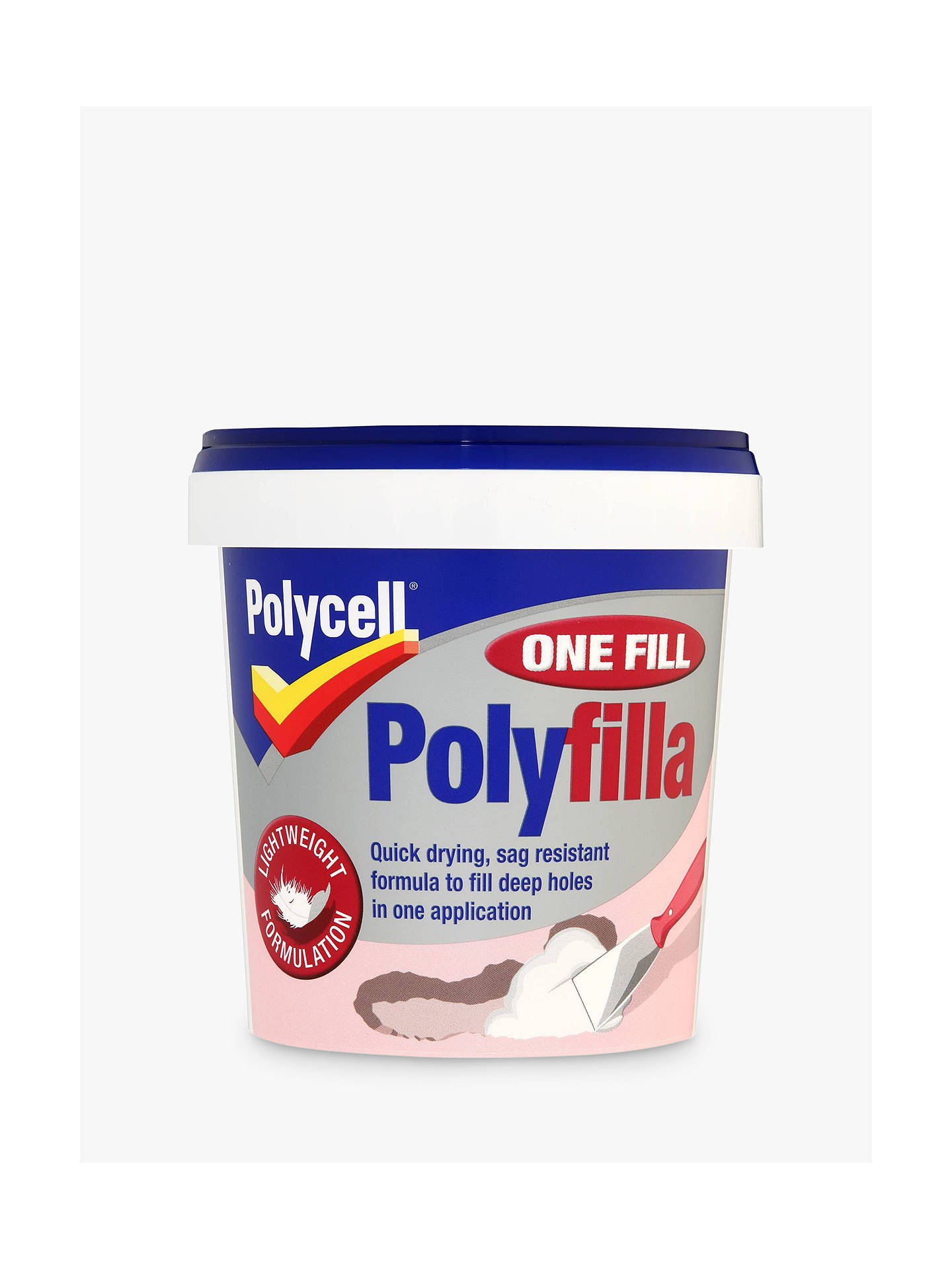BuyPolycell DIY One Fill Polyfilla, 600ml Online at johnlewis.com