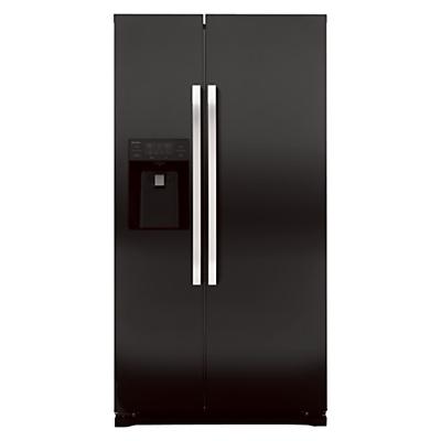 Image of John Lewis JLAFFB2011 American Style Fridge Freezer, Black
