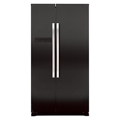 John Lewis JLAFFB2012 American Style Fridge Freezer Black