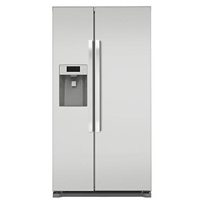 John Lewis JLAFFS2011 American Style Fridge Freezer Silver