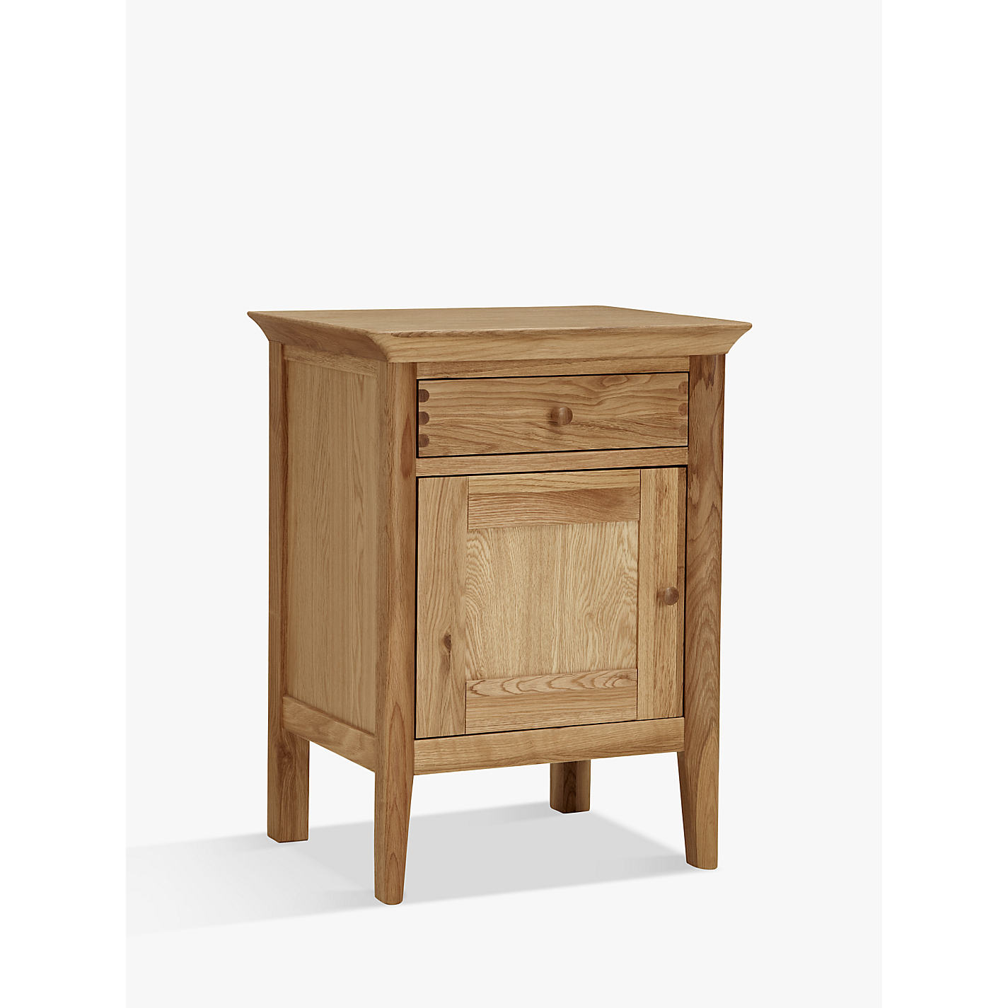 ... Buy John Lewis Essence 1 Door Bedside Table, Oak Online at  johnlewis.com ...