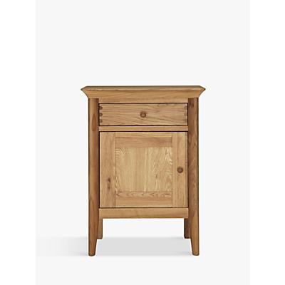 John Lewis Essence 1 Door Bedside Table, Oak