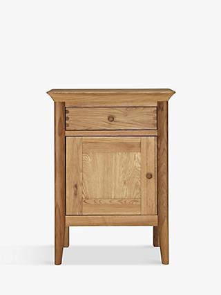 John Lewis Partners Essence 1 Door Bedside Table Oak