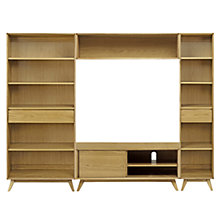 Buy House by John Lewis Stride Media Display, Wide / Narrow Bookcase Online at johnlewis.com
