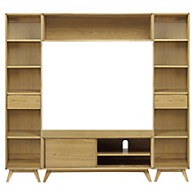 Buy House by John Lewis Stride Media Display, Narrow Bookcases Online at johnlewis.com