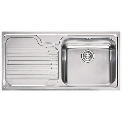 Franke Galassia GAX 611 Inset Sink with Right Hand Bowl Stainless Steel