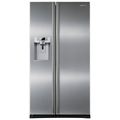Samsung RSG5UURS American Style Fridge Freezer, A+ Energy Rating, 91cm Wide, Stainless Steel