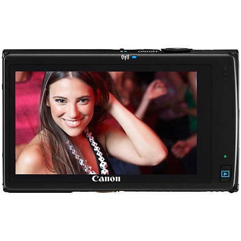 "Buy Canon IXUS 240 HS Digital Camera, HD 1080p, 16.1MP, 5x Optical Zoom, Wi-Fi, 3.2"" LCD Touch Screen, Black Online at johnlewis.com"