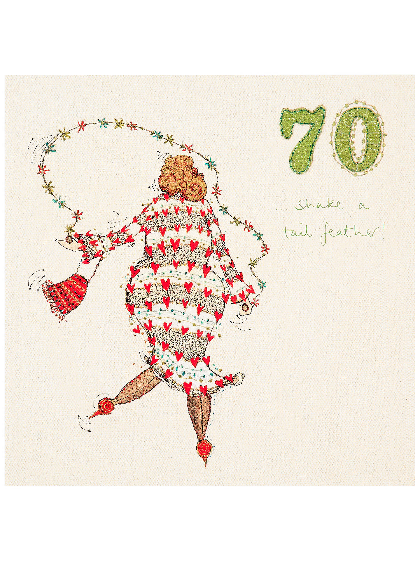 Buy Woodmansterne 70th Birthday Card Online At Johnlewis