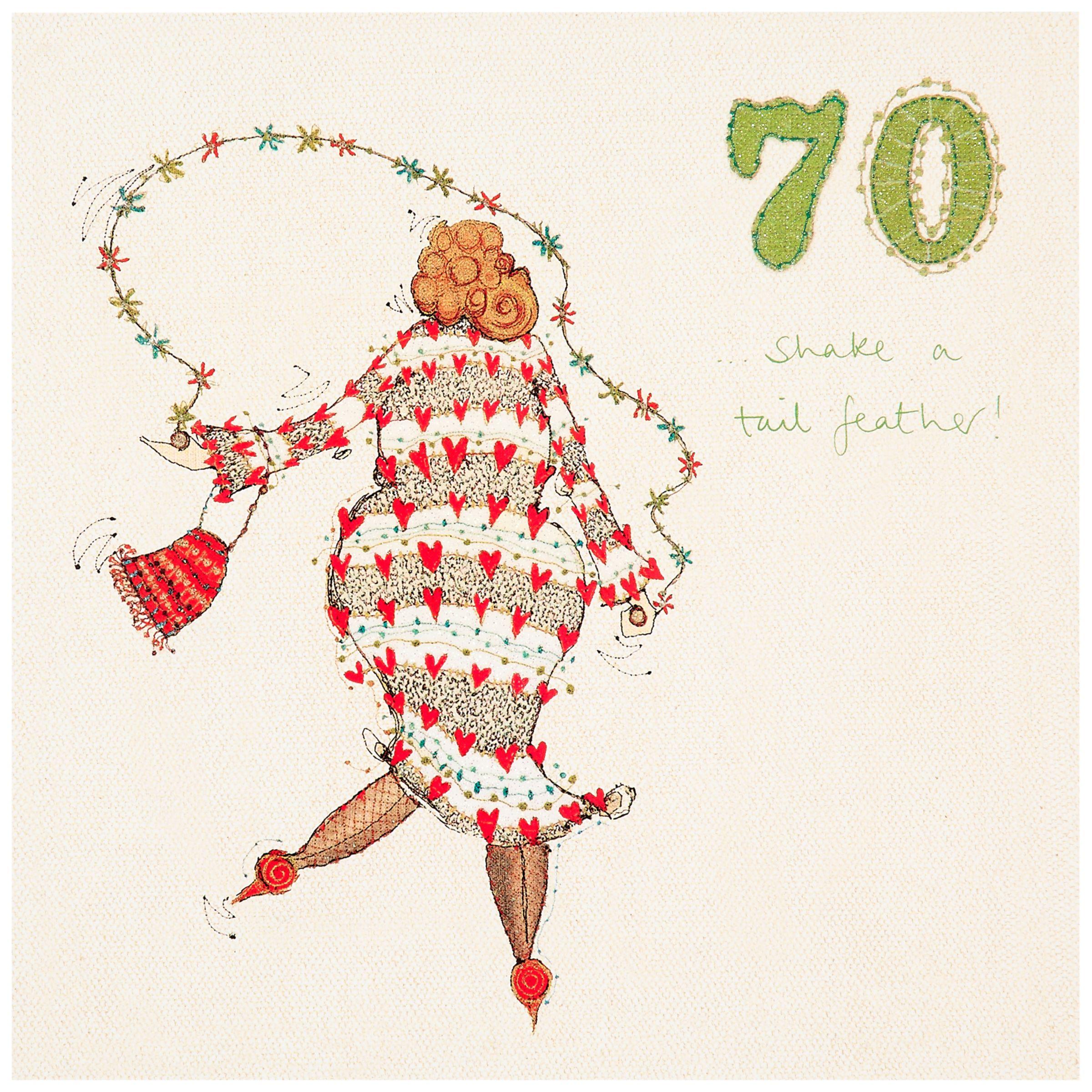 Woodmansterne 70th Birthday Card Bluewater