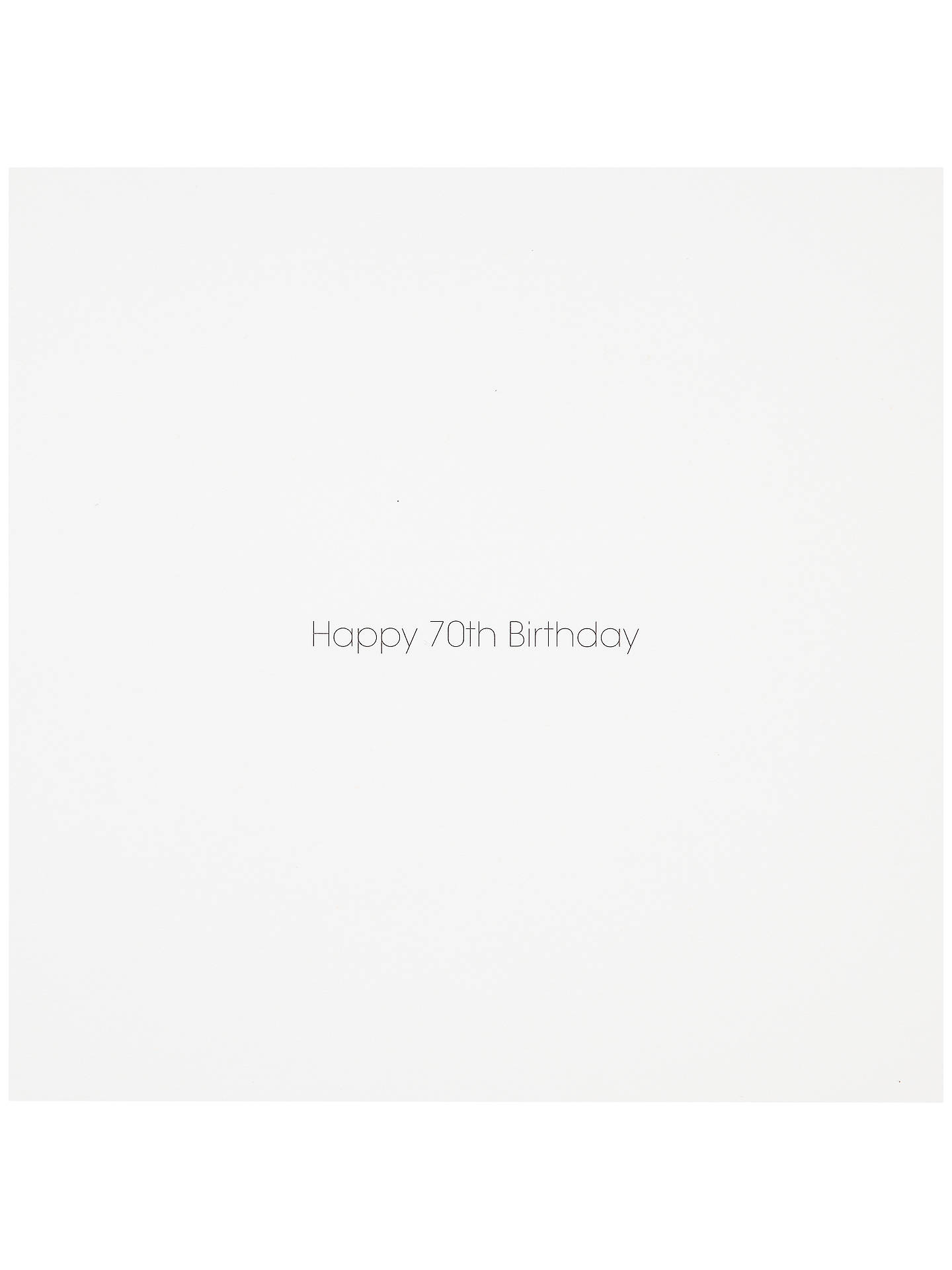 BuyWoodmansterne 70th Birthday Card Online At Johnlewis