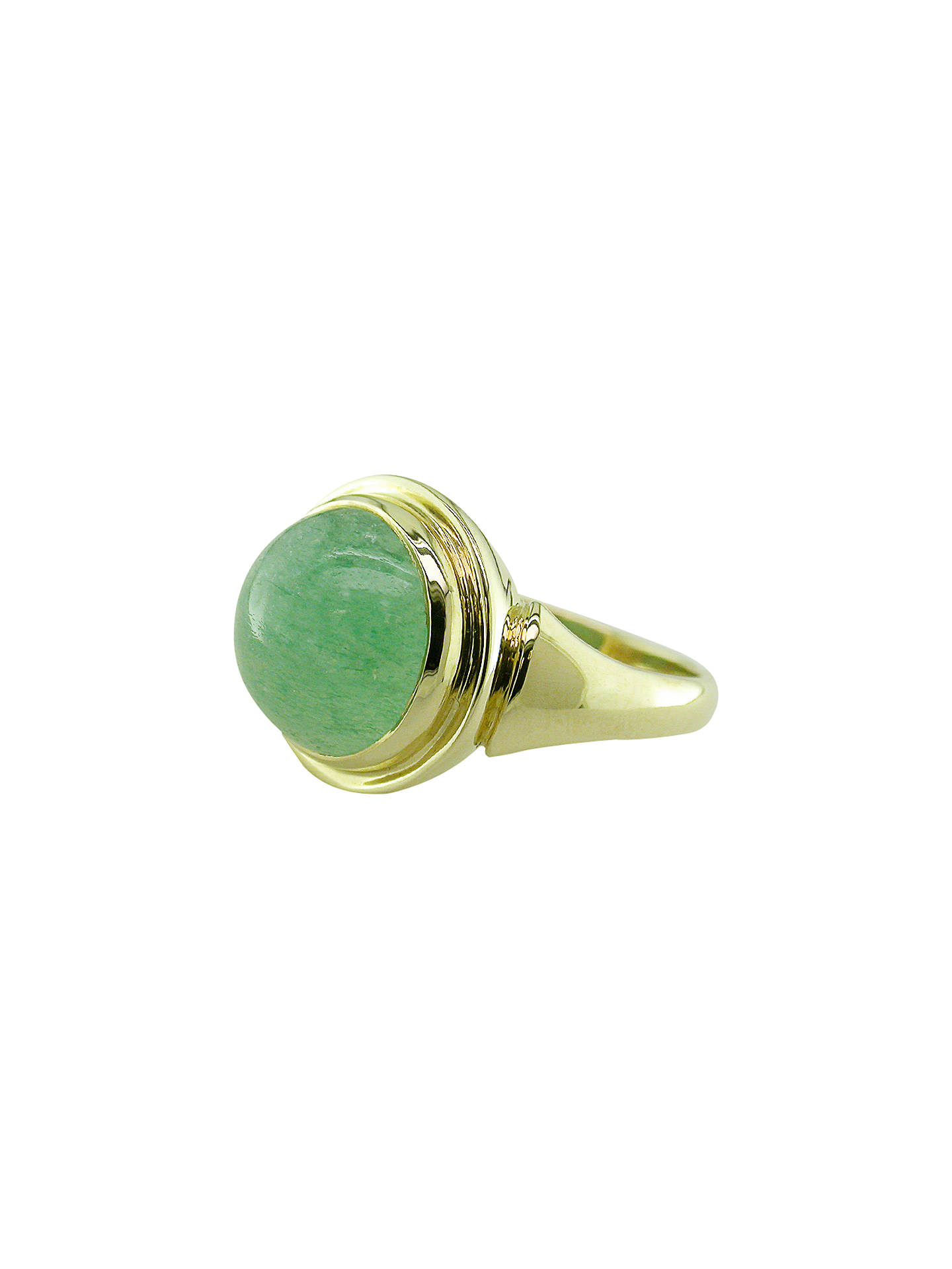Buy London Road Sloane 9ct Yellow Gold Green Cocktail Ring, Aventurine Online at johnlewis.com
