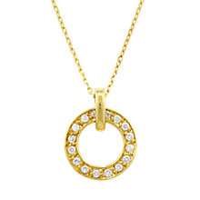Buy London Road Yellow Gold Circular Diamond Set Pendant Necklace Online at johnlewis.com