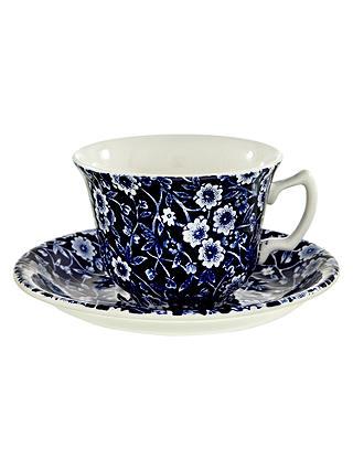 John Lewis Calico Cup And Tea Saucer0 Burleigh 185lAt Blue XkZuiP
