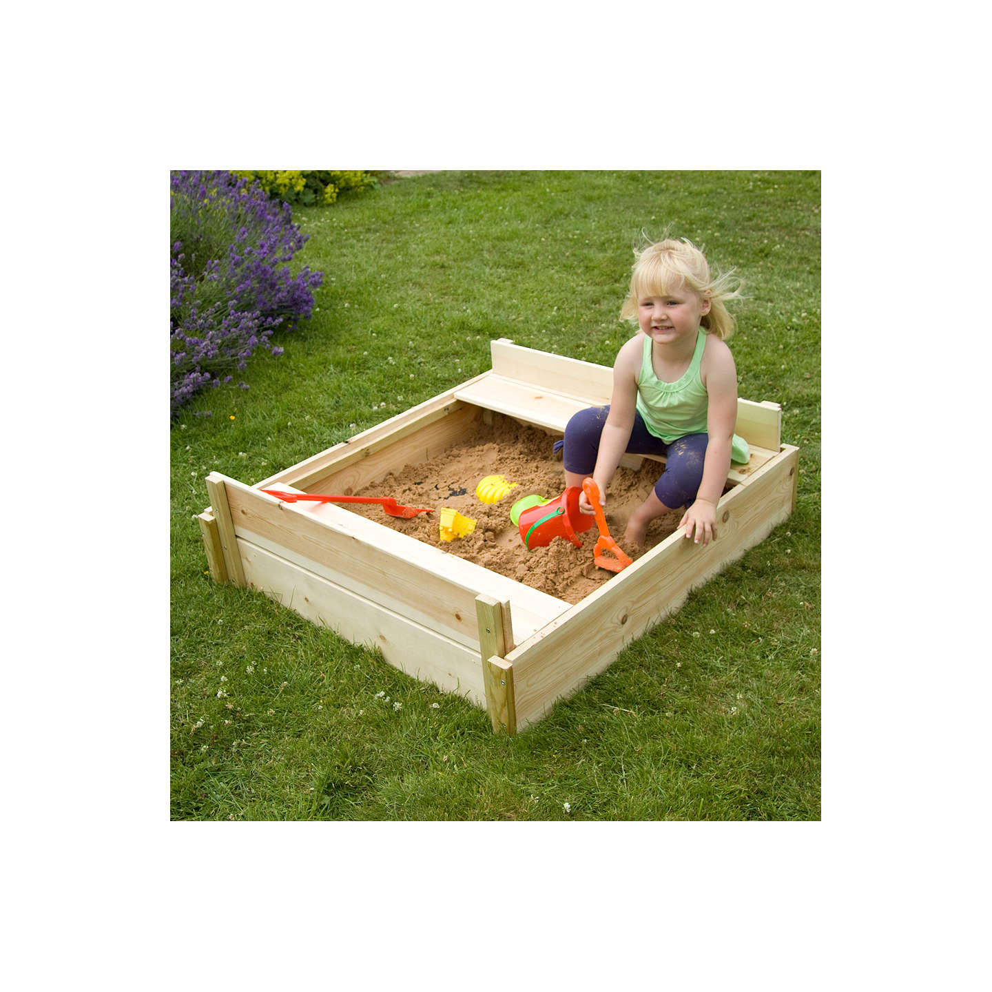 BuyTP Toys TP292 Wooden Lidded Sandpit Online at johnlewis.com