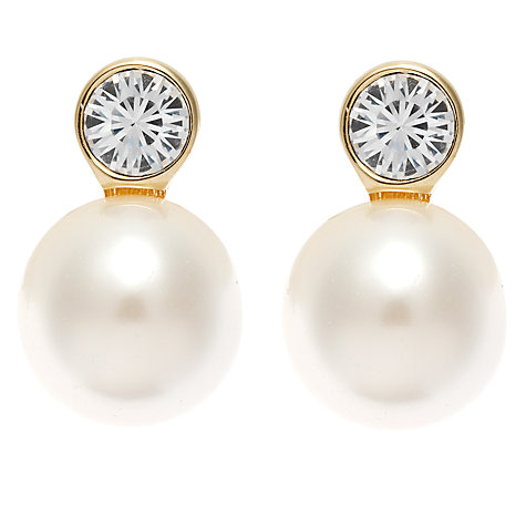 Buy Finesse Pearl and Crystal Earrings Online at johnlewis.com