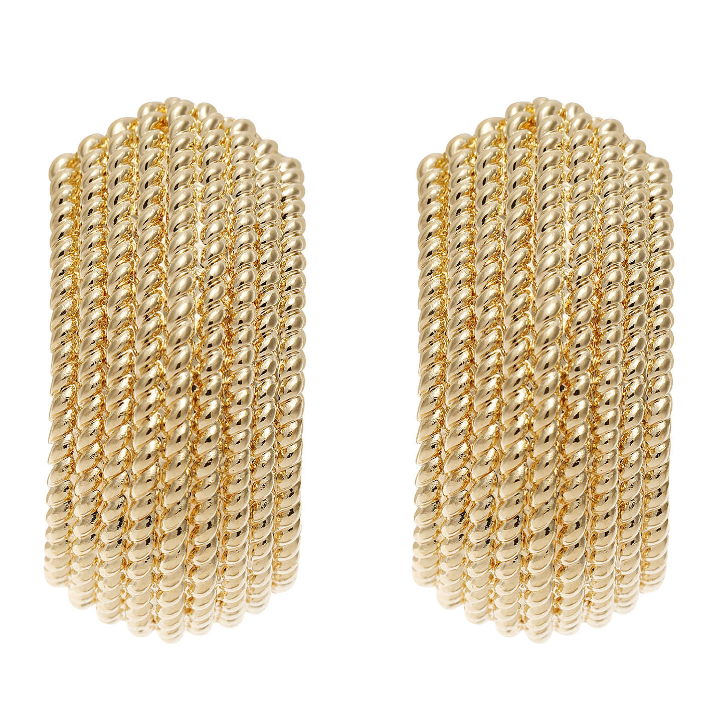 BuyFinesse Textured Clip-On Earrings, Gold Online at johnlewis.com