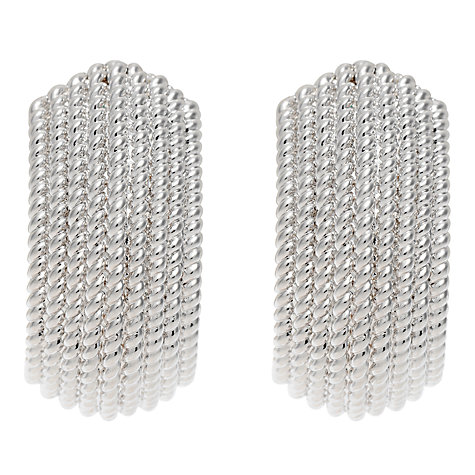 Buy Finesse Textured Clip-On Earrings Online at johnlewis.com