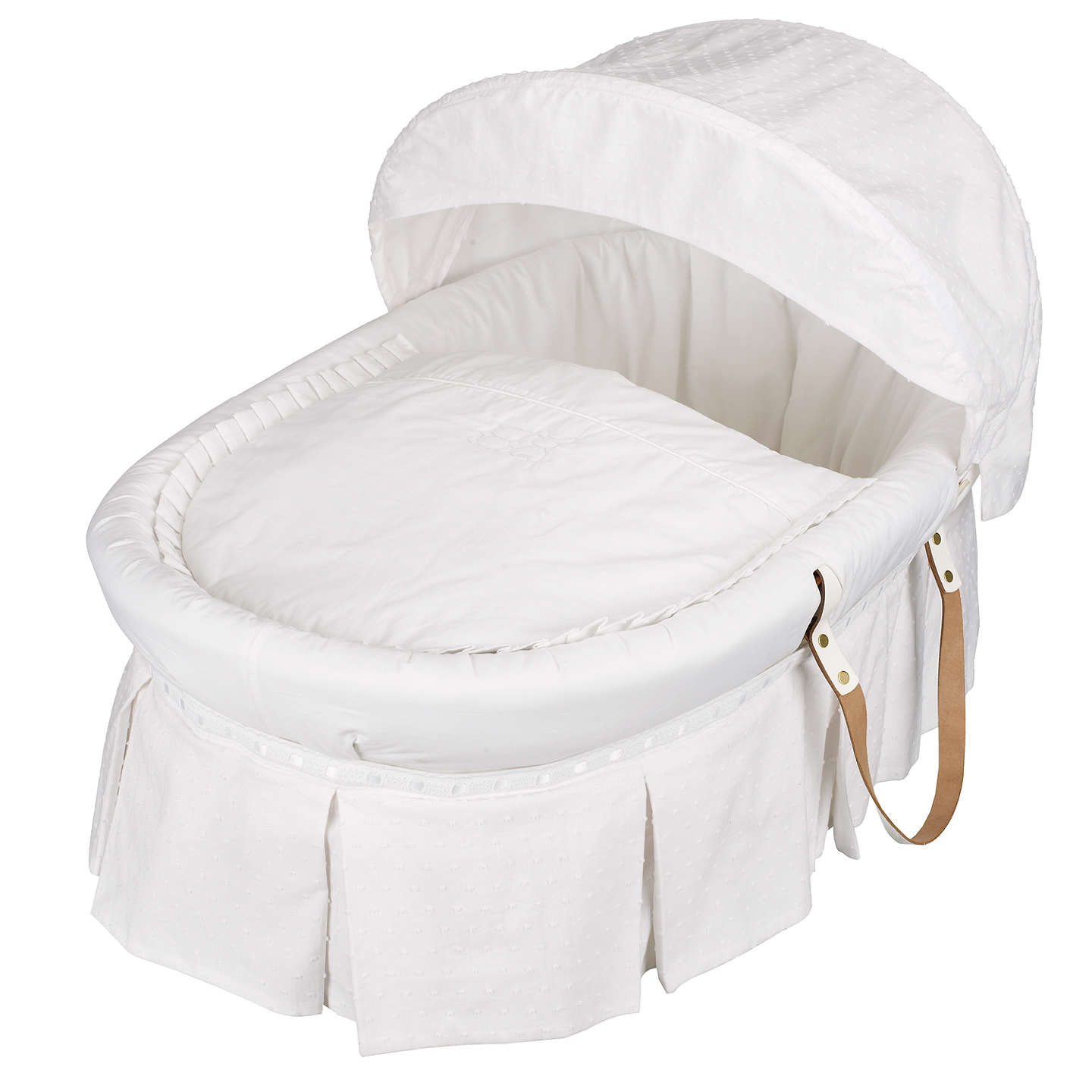 BuyEmile et Rose Moses Basket, White Online at johnlewis.com