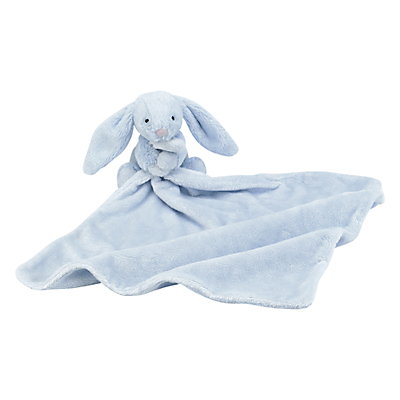 Jellycat Bashful Bunny Baby Soother Soft Toy, Blue