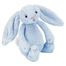 Buy Jellykitten Bashful Bunny Rattle, Blue Online at johnlewis.com