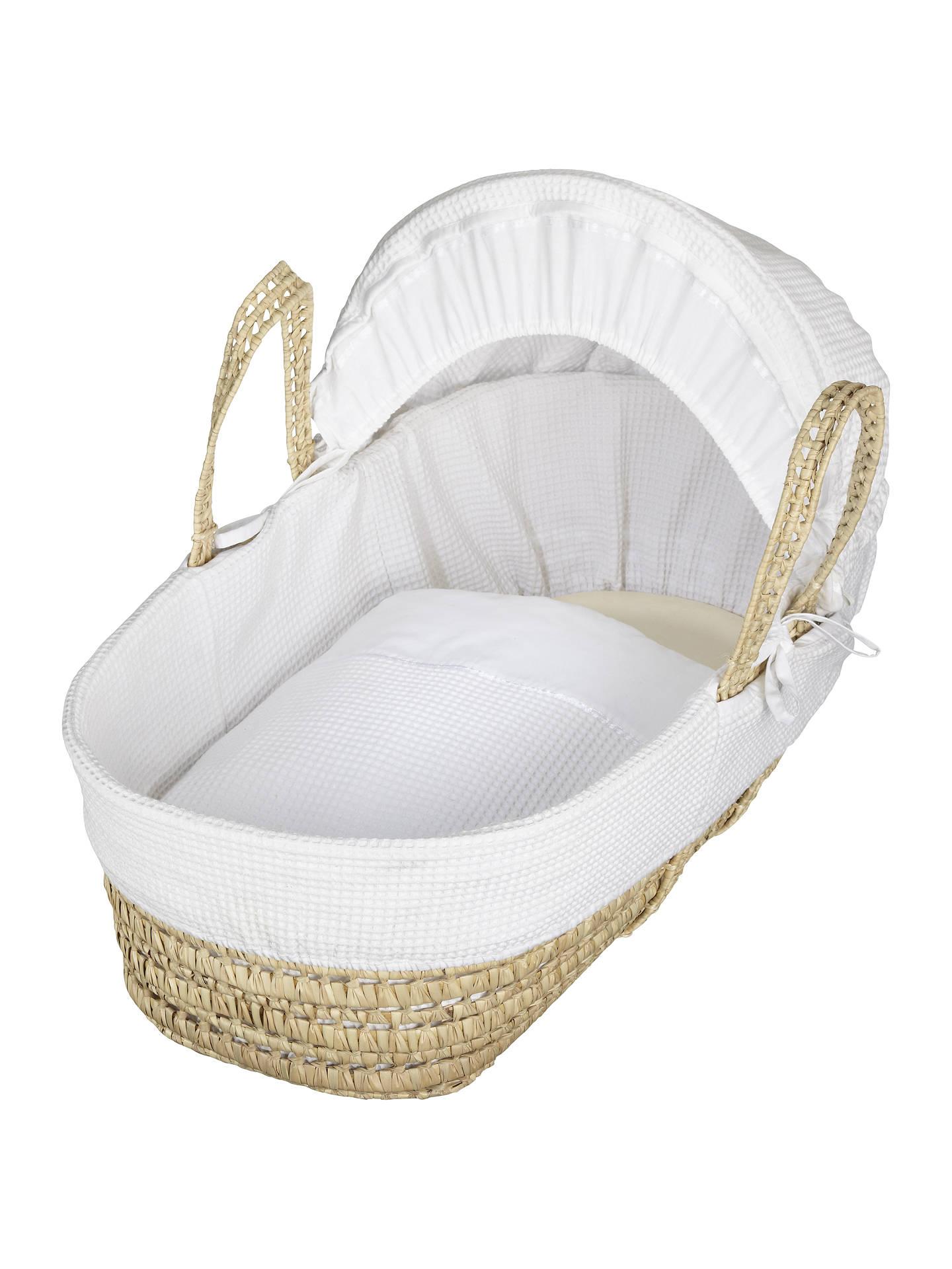 site réputé 5d848 04588 John Lewis & Partners Waffle Moses Basket, White